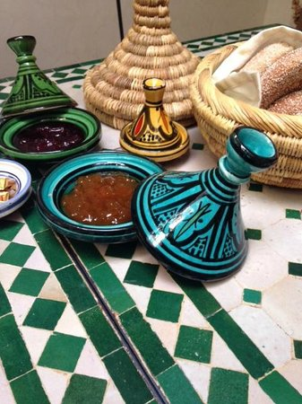 Riad Abaca Badra: Ontbijt - Dejeuner