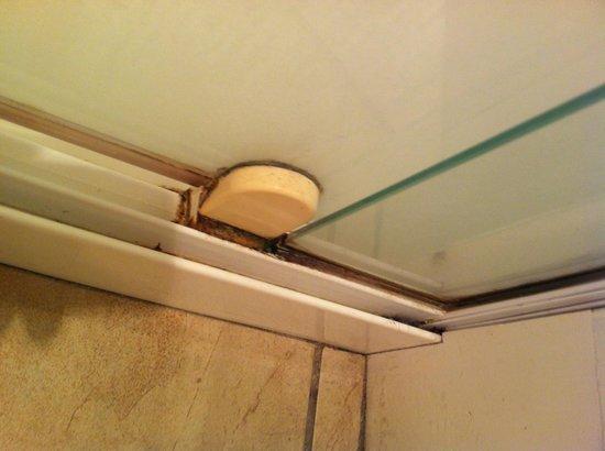 Copthorne Hotel & Resort Hokianga: Dirty corner of shower
