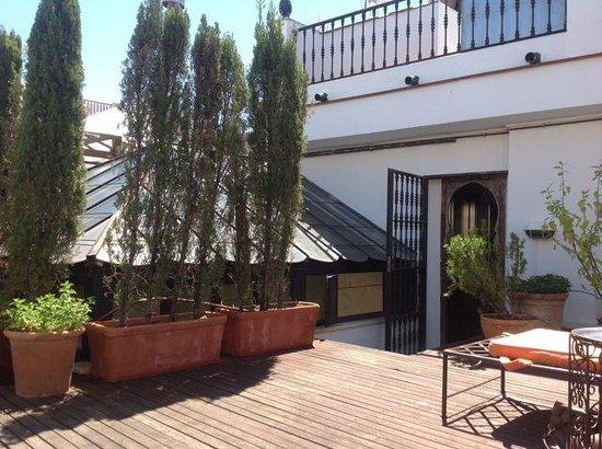 Alcoba del Rey de Sevilla Boutique Hotel: Jacuzzi roof lounge