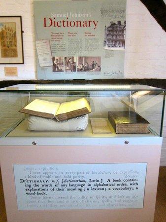 Samuel Johnson Birthplace Museum: Samuel Johnson Dictionary