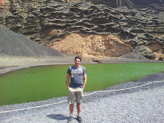 Parque Nacional de Timanfaya: lago verde