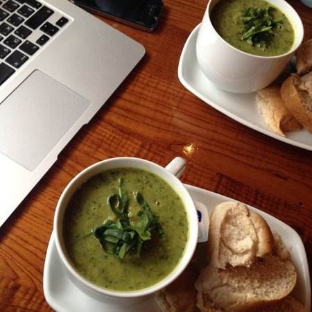 Tea Sutra Teahouse: Spinach Soup