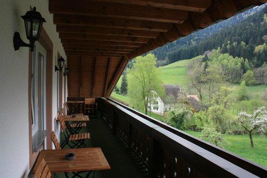 Landgasthaus Grüner Baum: Balcone della camera e vista
