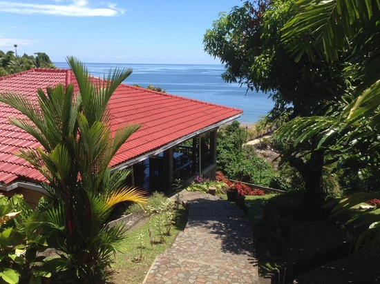 Lumbalumba Diving: restaurant from pool