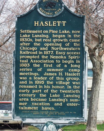 Haslett Historical Marker
