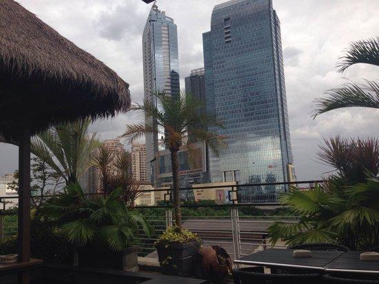 Avissa Suites : View from gazebo