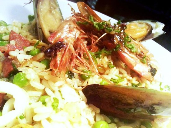 """Saxtys: Seafood Paella for our """"Spanish"""" Dining night"""
