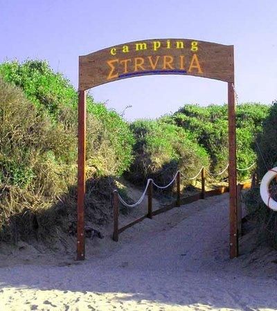 Camping Etruria: cartello spiaggia