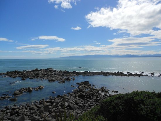 Orepuki, New Zealand: View from lookout at Monkey Island