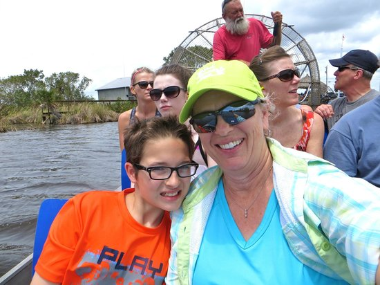 Capt Mitch's - Everglades Private Airboat Tours: Captain Conrad sharing his knowledge of the Everglades