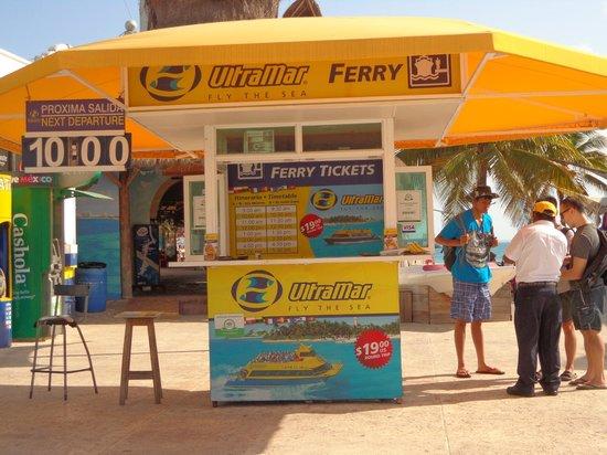Ultramar: Guichê de compra do ticket