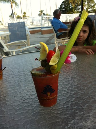 Safety Harbor Resort & Spa, A Trademark Collection Hotel : the bloody Mary at the tiki bar