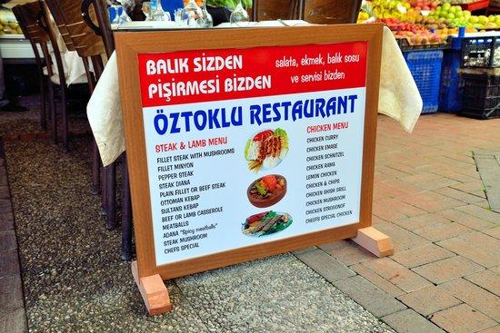 Oztoklu Restaurant : The fare