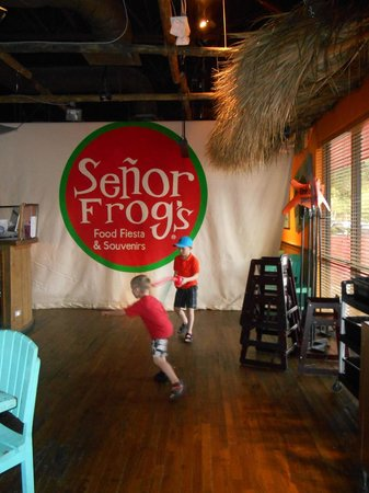 Señor Frog's: Balloon sword fight