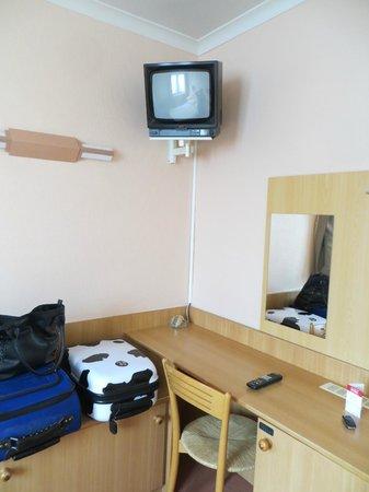 Bryghia Hotel: Chambre / TV