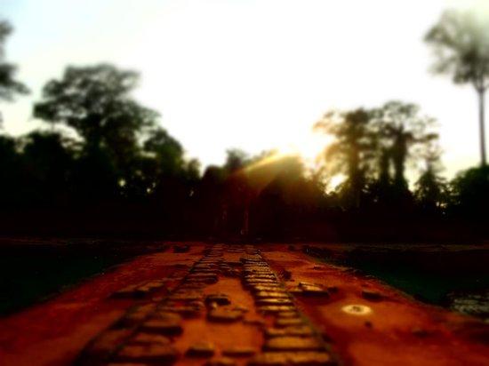 Banteay Srei : ラテライトでより神秘さを増します。