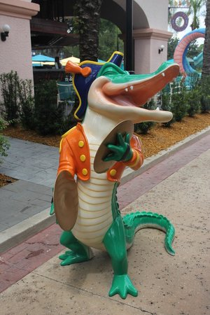 Disney's Port Orleans Resort - French Quarter : Pool Croc