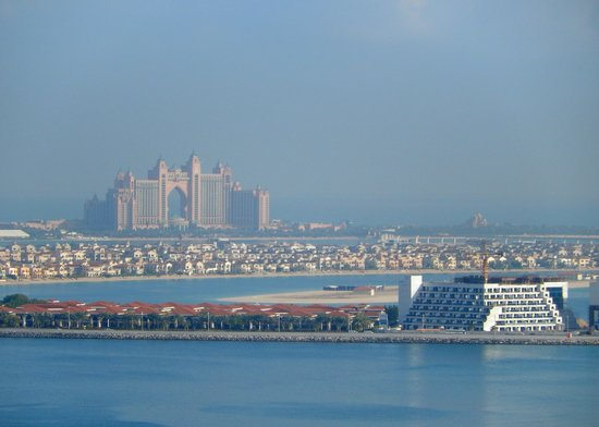 Sofitel Dubai Jumeirah Beach: View from sea view room on 23rd floor overlooking the Palm