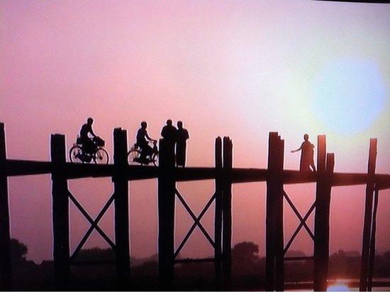 Pont d'U Bein : Amarapura. アマラプラ!小舟に揺られながら!