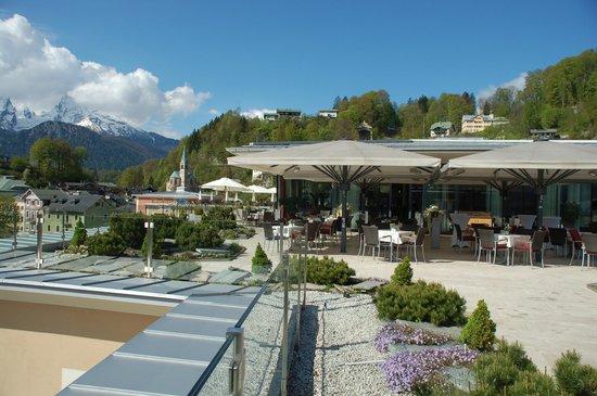 Hotel Edelweiss: Watzmann von der Dachterrasse