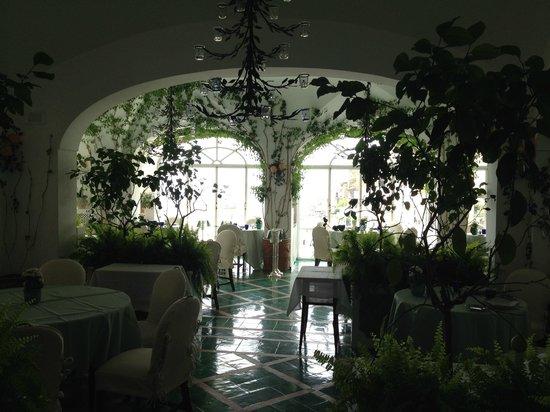 Le Sirenuse Hotel: La sala da pranzo