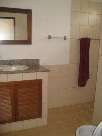 Buddha Lounge: Our private bathroom.
