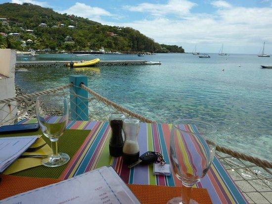 L'AMER : Vue depuis notre table sur la terrasse