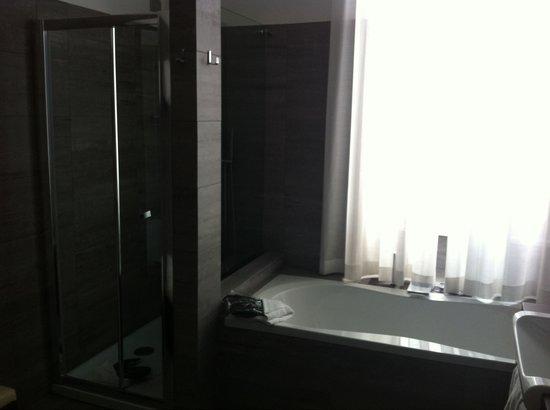 Hotel Trevi Collection: La doccia e la vasca della 208