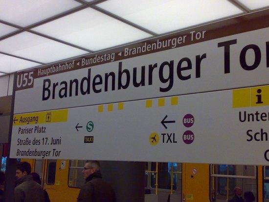 Brandenburg Gate: Gute Verkehrsverbindungen