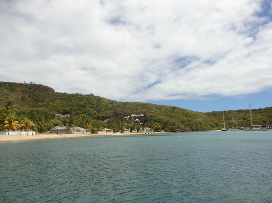 Galleon Beach Club Hotel: The hotel from the water