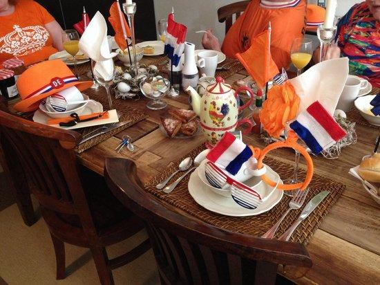 Boogaard's Bed and Breakfast : La tavola al King's day