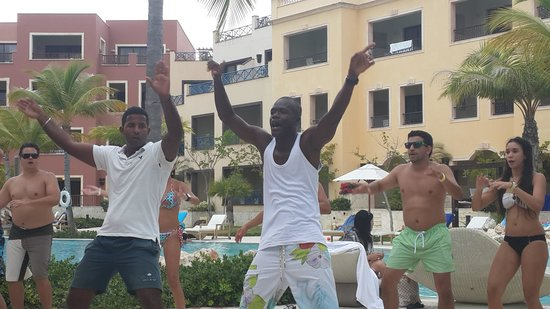 Alsol Luxury Village: Red Bull and James Bond entertaining at the pool