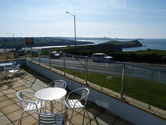 Porth Cove: front terrace