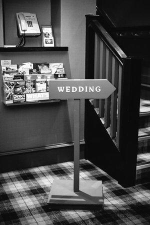 Best Western Glasgow South Eglinton Arms Hotel: wedding sign