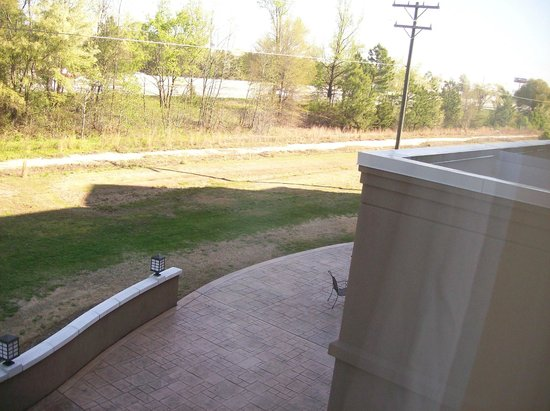 Hilton Garden Inn Greenville: View from room 205, you see part of the outdoor patio