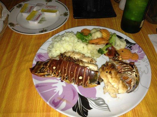 Casita de Maya: Diner aux Langoustes préparé par Daniel !