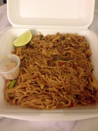 Thai Kitchen Pad Thai chicken pad thai - to go - picture of noot's thai kitchen