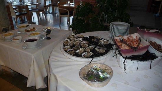 Hotel La Lagune: Buffet huîtres