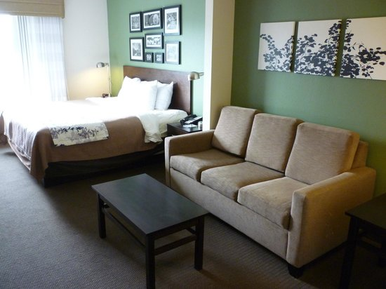 Sleep Inn & Suites Evergreen: Comfy couch and bed
