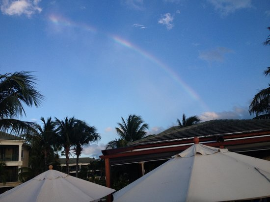 Hemingway's Restaurant: Rainbow over Hemingways