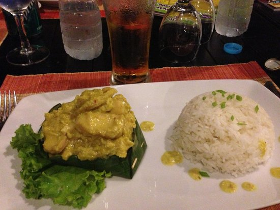 Angkor Heritage Boutique Hotel: Fish Amok in the hotel restaurant
