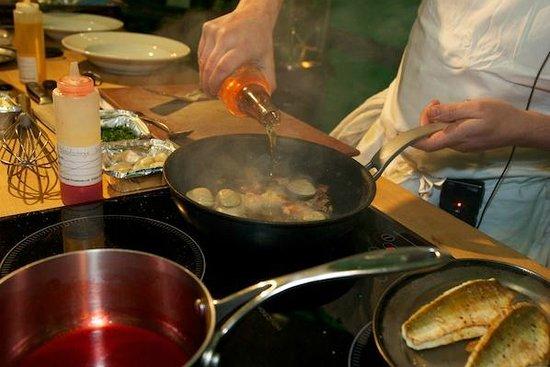 Roast : Head Cook Marcus cooking demo in Borough Market
