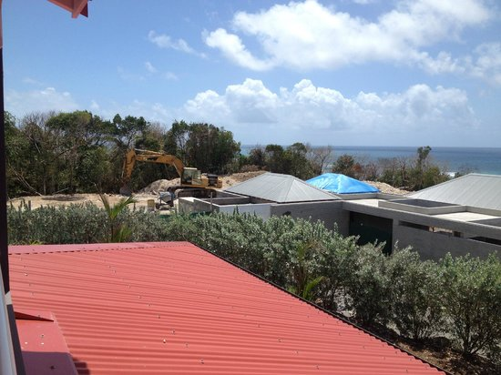 La Toubana Hotel & Spa: vue de la chambre travaux