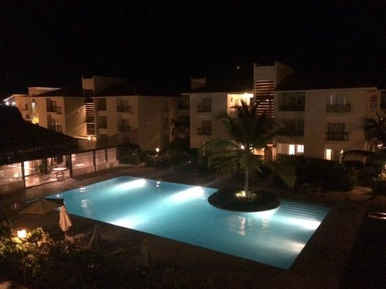 Karibo Punta Cana: View of Karibo Pool at Night