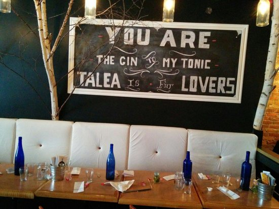 Talea Bistro Urbain: The bistro wall