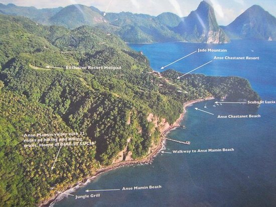 Anse Chastanet Beach And Reef Map Of The 2 Areas