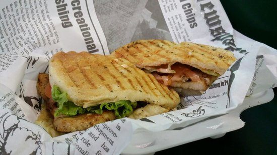 St. Lawrence Market: grill swordfish sandwhich