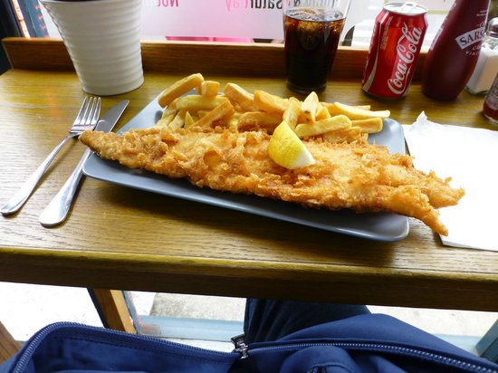 Haddock chips picture of baileys fish and chips for Fish and chips london