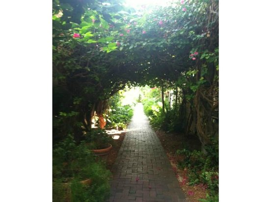 Simonton Court Historic Inn and Cottages: The walkway to our room - so nice!