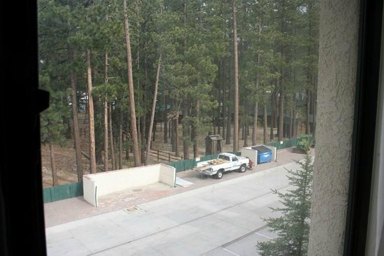 Northwoods Resort : View from first room - road & parking